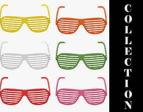 6 Colors Shutter Glasses Collection 3D model