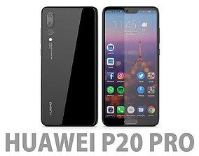 electronics Huawei P20 Pro Black 3D model