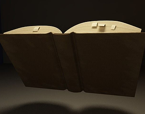 Opened book 3D