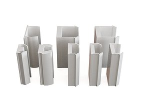 3D model Profile aluminium cover profiles