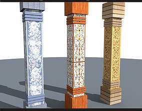 3D model lowpoly column 02