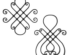 Wrought iron elements vol 5 3D model