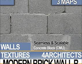 Modern Brick Wall B 3D model