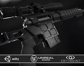 DVL-10 M2 URBANA and March Tactical 3-24x42 FFP 3D asset