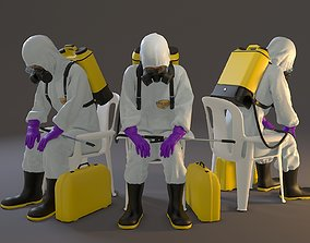 Biohazard Suit Female ACC 2130 010 3D model