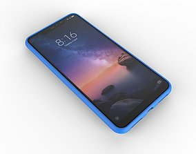 Xiaomi Redmi Note 6 Pro blue case 3D printable model