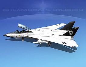 Grumman F-14D Tomcat T14a VF14 3D