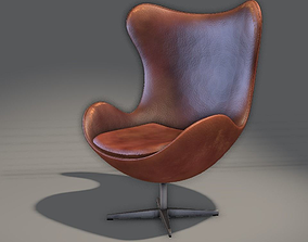 Leather Chair 3D asset