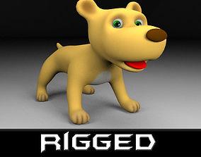 Cartoon rigged dog 3D model