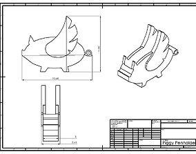 3D printable model Piggy Penholder