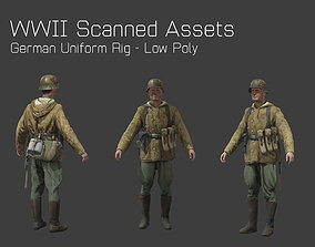 German Camo Soldier Rig - WW2 Scanned Asset Pack 3D model