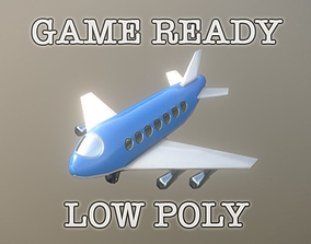 Jumbo Jet Toy low-poly game ready 3D model