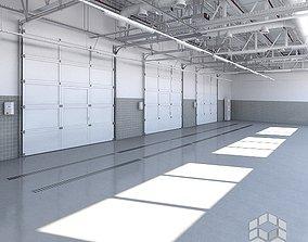 3D Base Car Service Interior