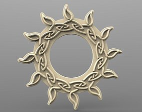 3D printable model Celtic sun CNC