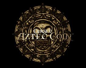 3D printable model treasure Cursed Aztec coin