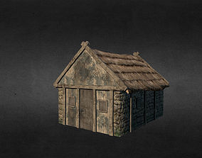 Medieval house 3D model game-ready