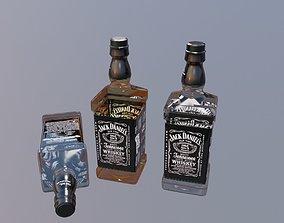 3D jack daniel wiskey bottle