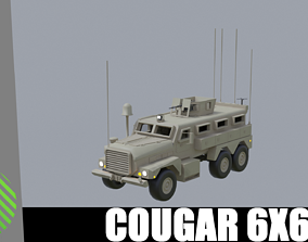 3D asset cougar MRAP 6x6
