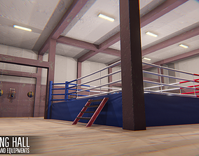 Boxing hall - interior and equipments 3D model