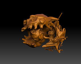 Gaara surrounded by sand 3D printable model