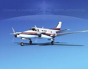 Beechcraft King Air C100 V08 3D model