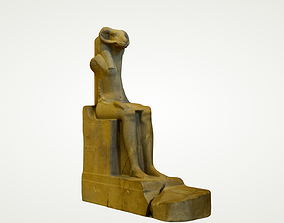 3D PRINT - EGYPTIAN STATUE OF THE RAM HEADED GOD AMON