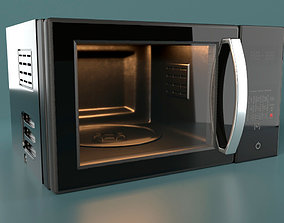 Microwave 3D asset low-poly