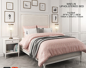 pillow 3D Maelin Upholstered Bed