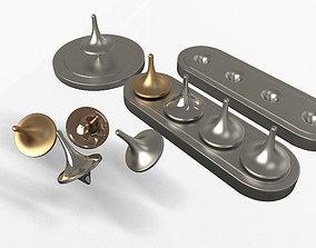 3D model Spin Metal Spinning Tops