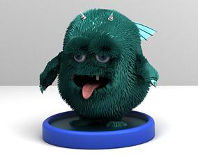 3D asset Turquoise monster