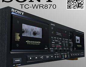 animated Sony TC-WR870 Vintage cassette deck