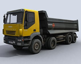 vehicle Dump Truck 3D asset game-ready