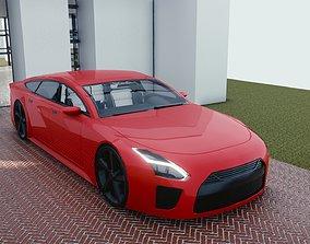BLENDER EEVEE Brandless Extended Wheelbase 4 door 3D model