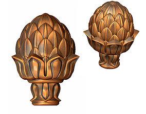 3D printable model artichoke pommel