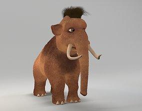 3D model cartoon young mammoth