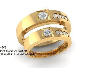 643 Diamond wedding ring 3D printable model