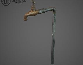Old faucet 3D asset