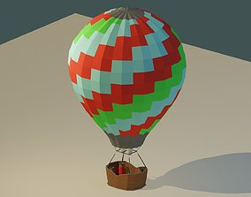 3D asset low-poly Low Poly Hot Air Balloon