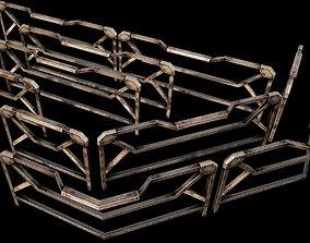 Modular Guardrail - sci fi architectural 3D asset