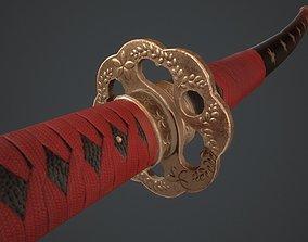 Hanami Katana 3D asset