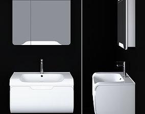 white Modern Bathroom Furniture 3D model
