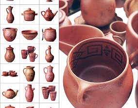 Dishes clay decor n19 3D model