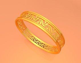 3D printable model Wedding Gold Ring KTWR06 gold