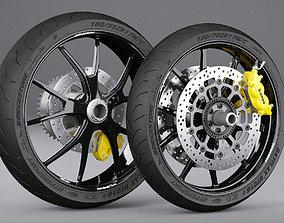 Motorcycle Wheels motorcycle 3D model