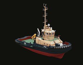 Tugboat Ural ocean 3D model