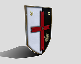 3D model Medieval Heater Shield