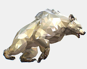 3D asset Animated Low Poly Art Arctic animal White Bear