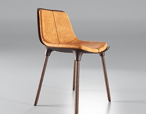 Small Leather Dining Chair 3D asset