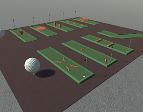 3D model Mini Golf Course