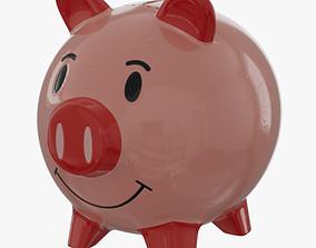 money Piggy Bank 3D model realtime